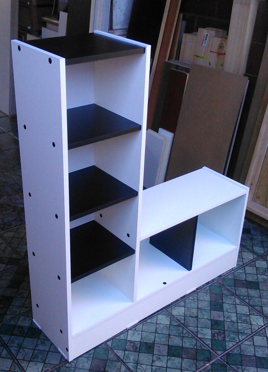 Mueble multiuso melamina blanco negro 105 5 x 90 x25 Programa para hacer muebles de melamina