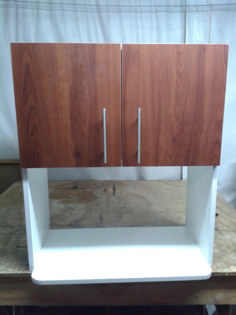 Mueble mural 2 puertas para microondas en for Mueble para encastrar horno y encimera