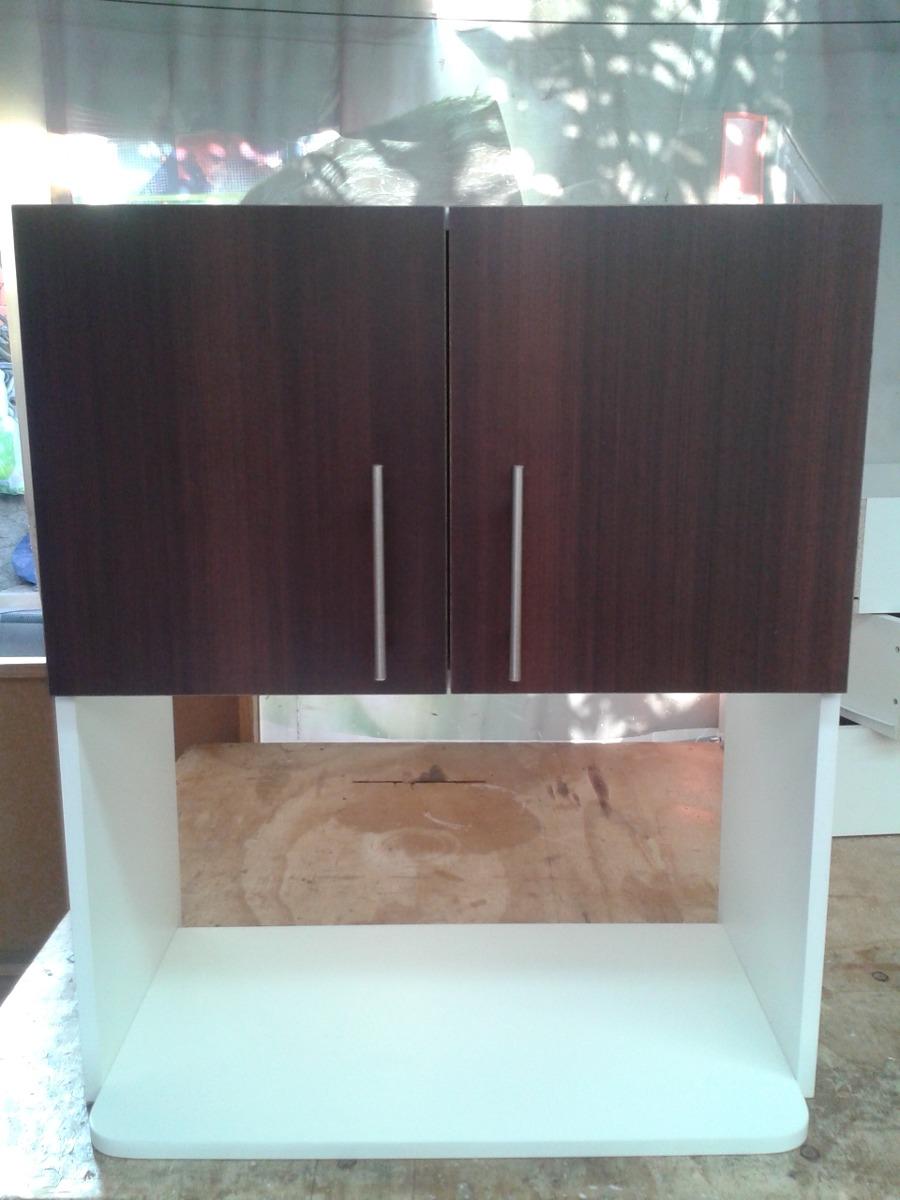 Mueble mural 2 puertas para microondas en for Mueble horno y microondas