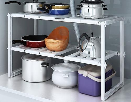mueble organizador bajo mesada extensible cocina despensero