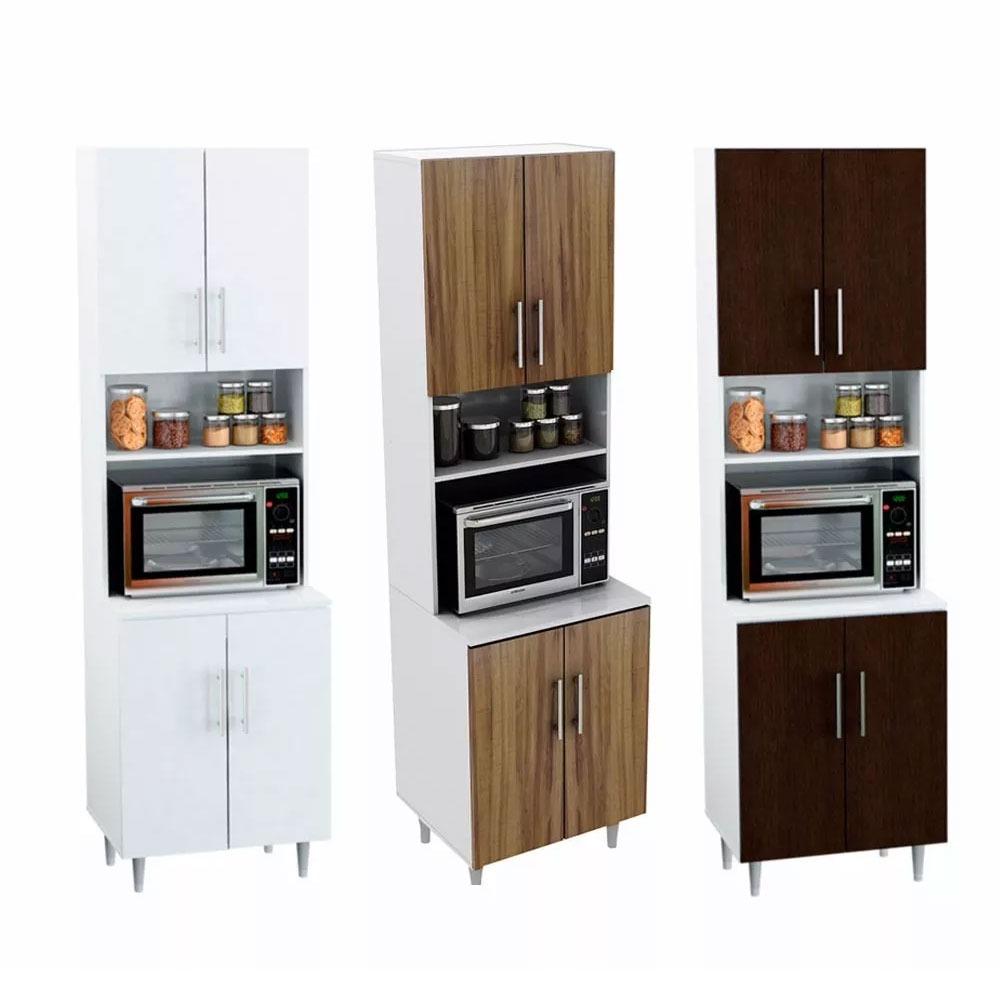 Mueble Organizador Cocina Comedor Porta Microondas Puertas - $ 3.131 ...