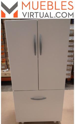 mueble organizador cocina microondas con puertas y cajon