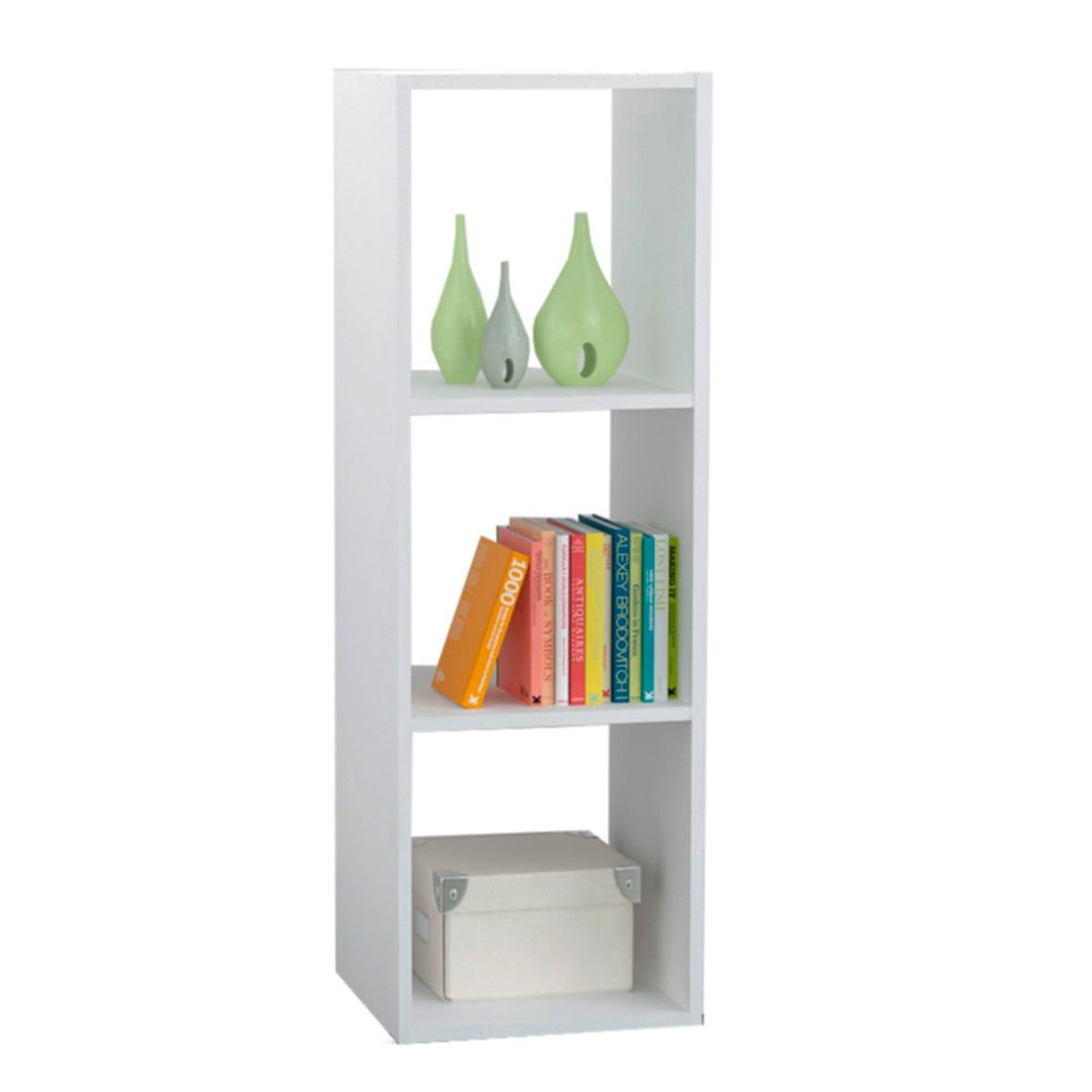 Mueble Organizador Cubo 3 Modulos De Melamina Blanco