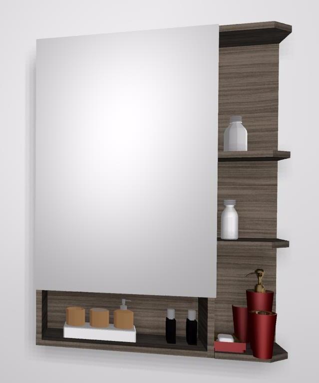 Mueble Organizador De Bano Con Espejo Y Estantes Movibles