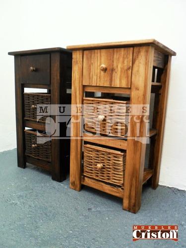 mueble organizador de bao madera maciza encerado