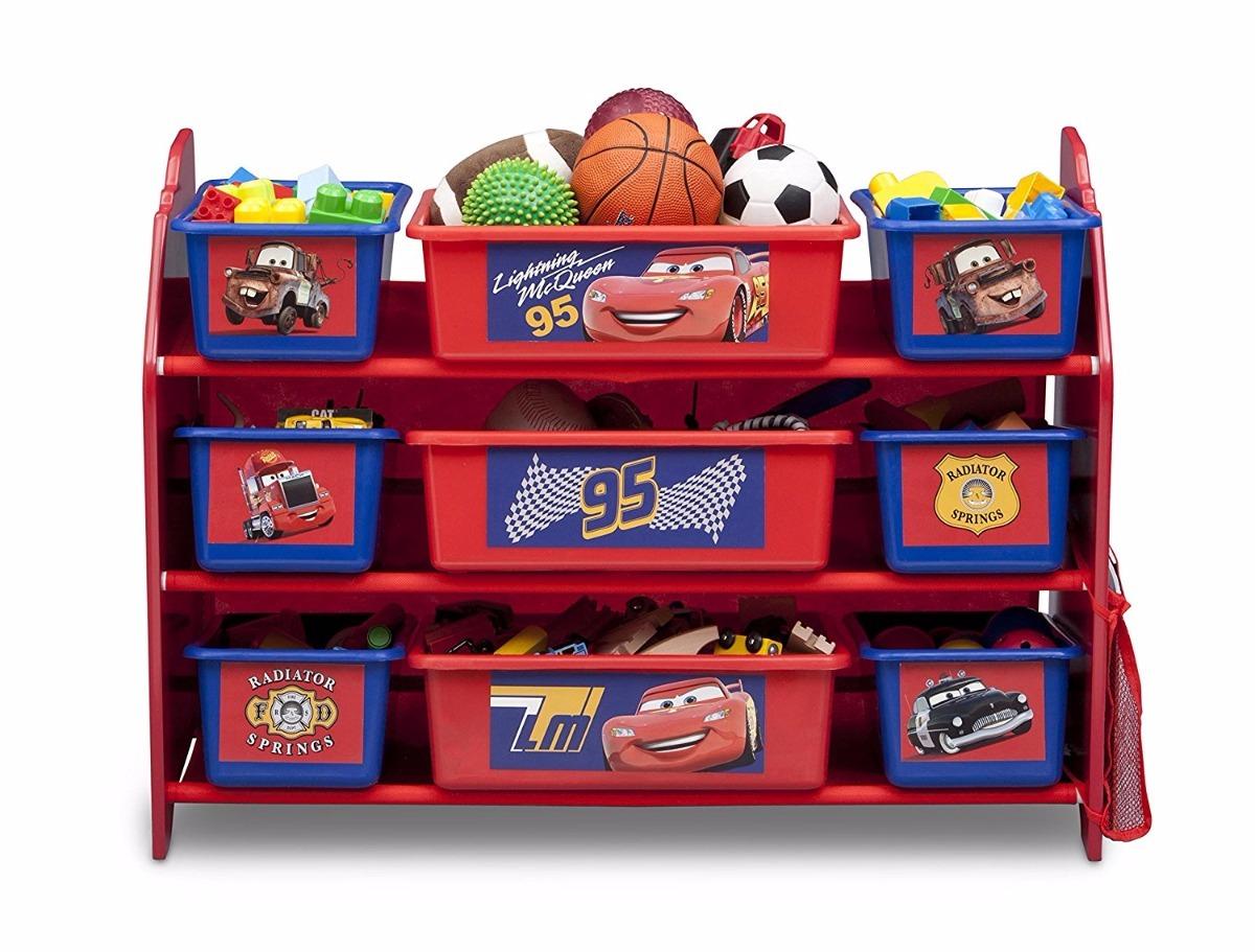 Mueble Organizador De Juguetes Para Ni Os 9 Cajones De Cars  # Muebles Juguetes Ninos