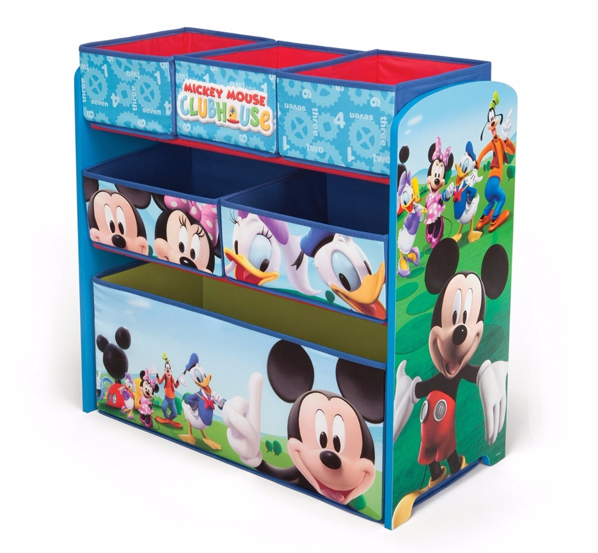 Mueble organizador de juguetes para ni os de mickey mouse 1 en mercado libre - Mueble organizador de juguetes ...