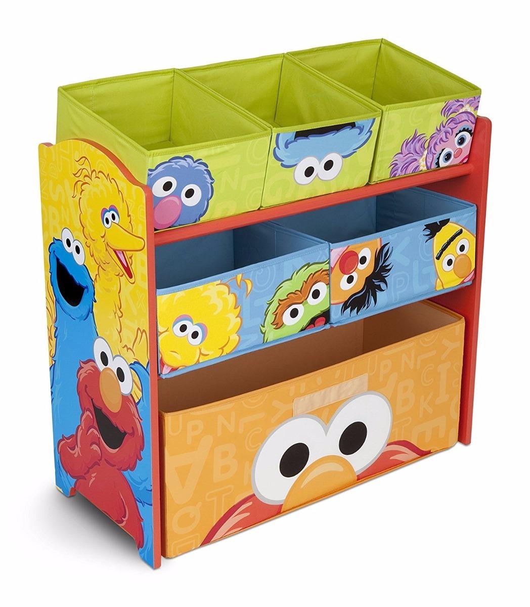 Mueble organizador de juguetes para ni os de plaza sesamo 1 en mercado libre - Mueble organizador de juguetes ...