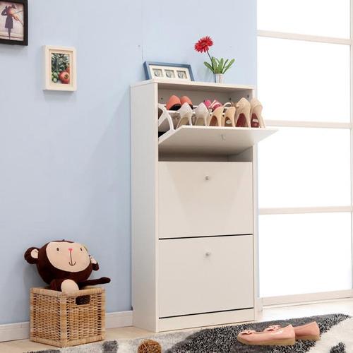 mueble organizador de zapatos blanco 6 niveles / rebajas