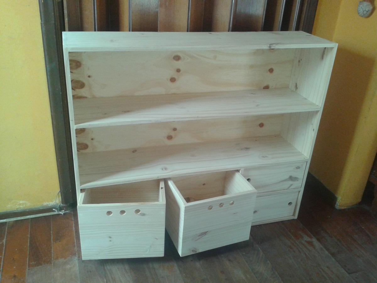 Mueble Organizador Infantil De Pino 1 700 00 En Mercado Libre # Muebles De Pino Coghlan
