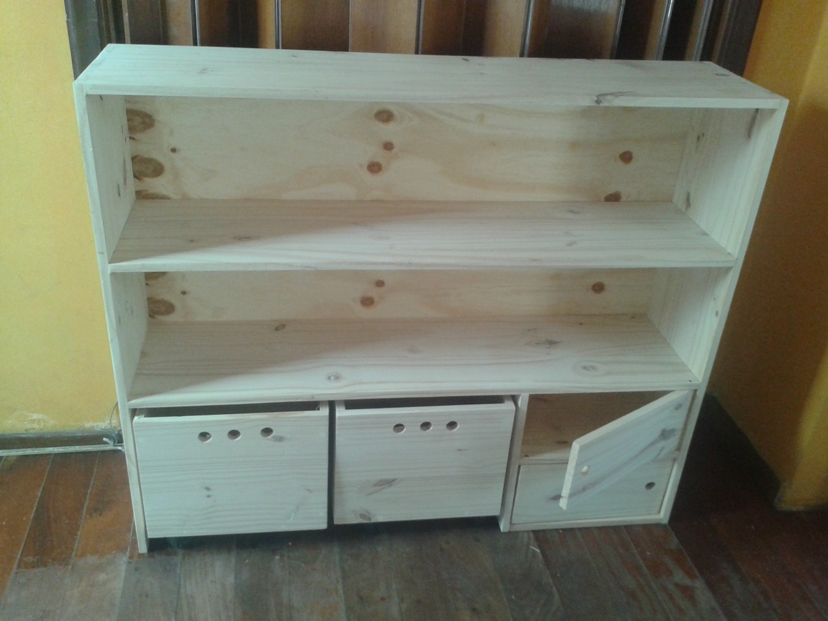 Mueble Organizador Infantil De Pino - $ 1.820,00 en Mercado Libre