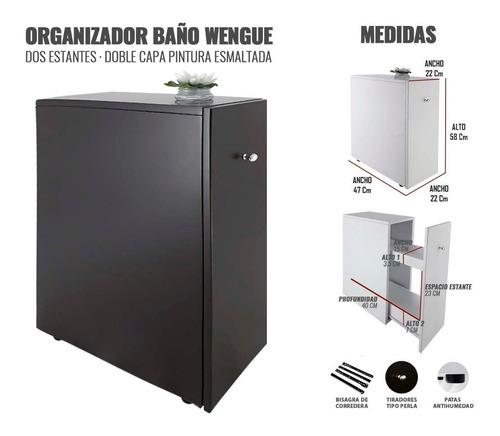 mueble organizador para baño cocina moderno cajon wengue cpu