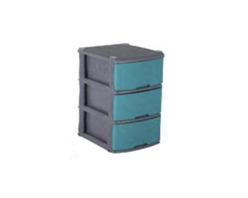 mueble organizador rattan x 3 gris