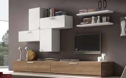 mueble panel modular vajillero lcd living progetto mobili