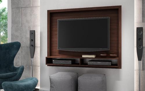 mueble panel pantalla 55 pulgadas color castaño br 420-164