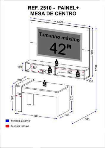mueble pantalla pantalla+mesa centro combo tabaco 2510.0008