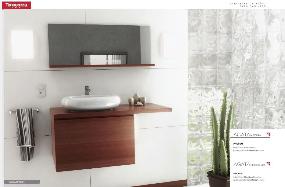 Mueble para ba o agata madera y chocolate 6 en - Mueble de bano madera ...