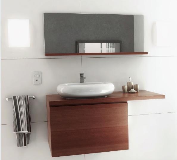 Mueble para ba o agata madera y chocolate 6 en - Fotos de muebles de bano modernos ...