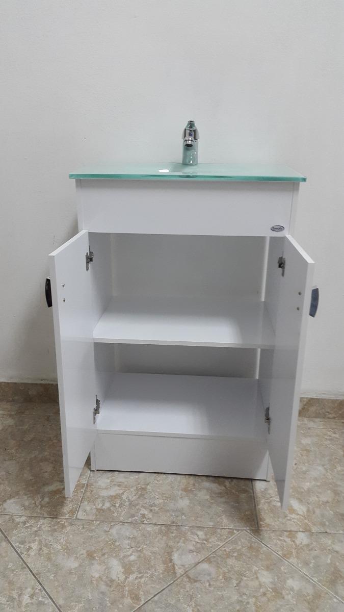 Mueble para ba o bacha en color verde botella 50x35 cm for Mueble 50 cm alto