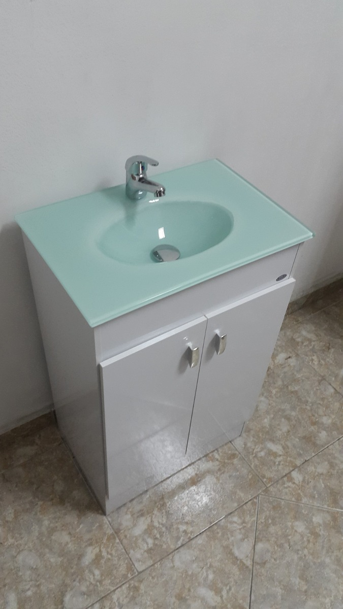 Mueble para ba o bacha en color verde botella 50x35 cm for Muebles de bano de 50 cm
