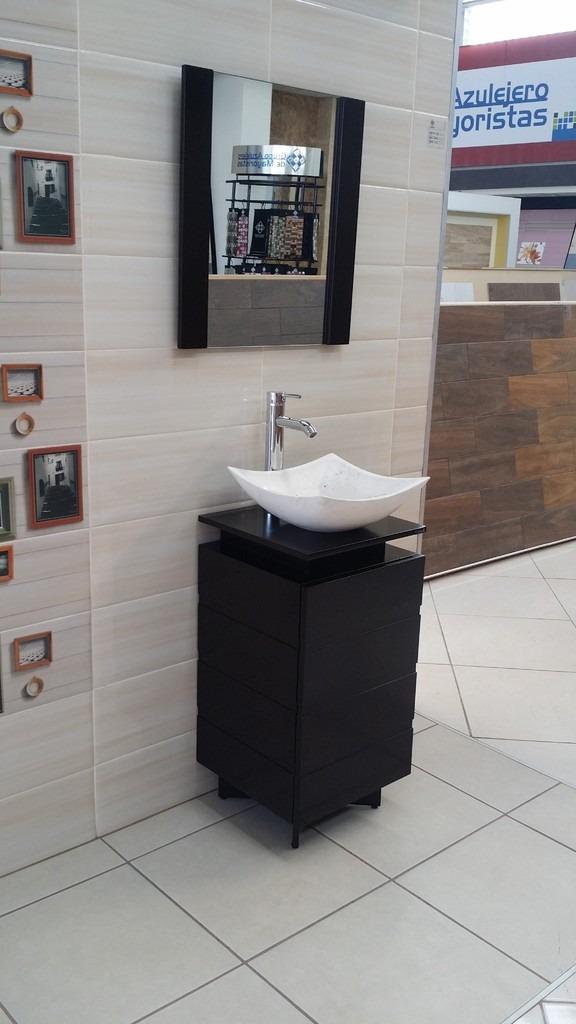 Mueble para ba o color chocolate lavabo de marmol 78x40 for Colores de marmol para banos