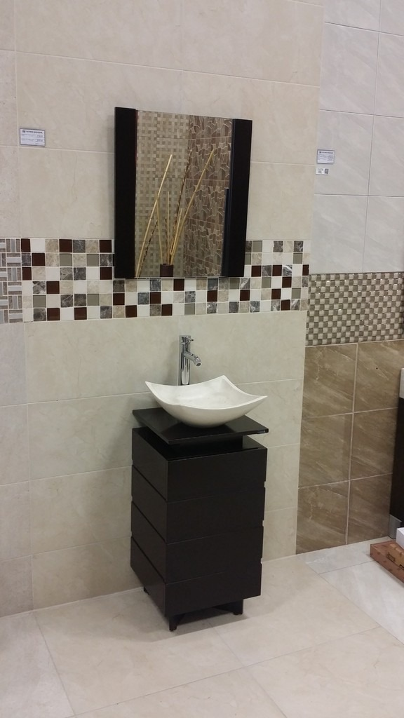 Mueble para ba o color chocolate lavabo de marmol 78x40 for Mueble 70 x 40