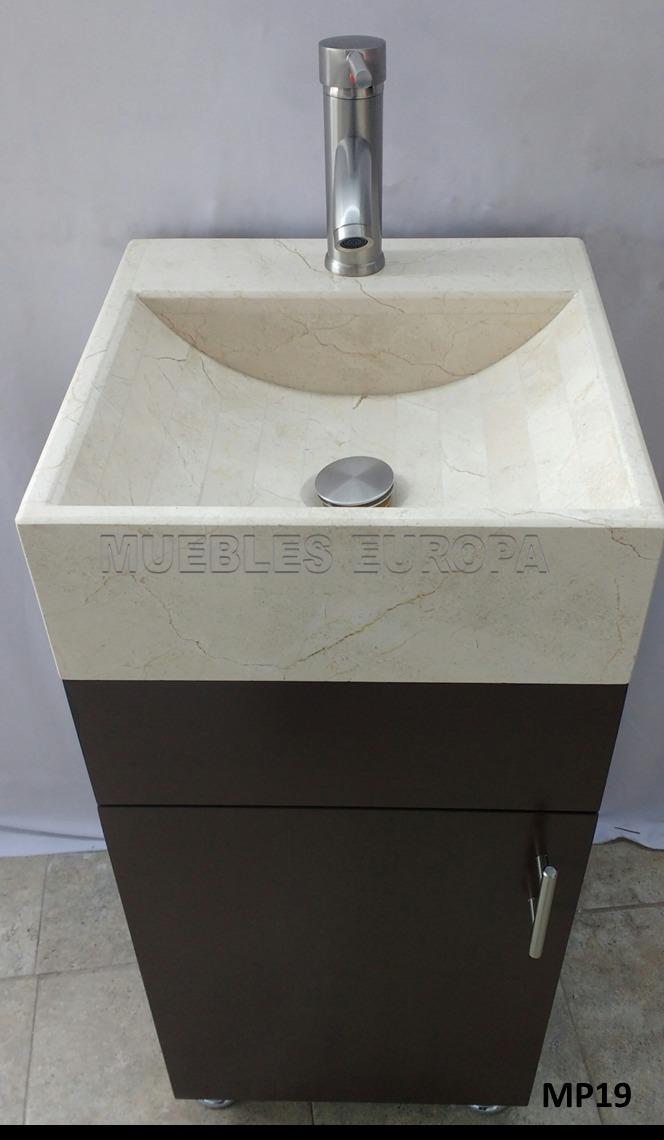 Mueble para ba o con lavabo marmol moderno dise o for Muebles de bano de diseno modernos