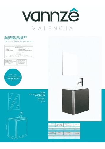 mueble para baño con llave y espejo modelo valencia
