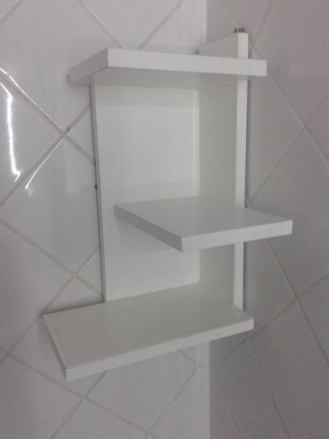 Mueble para ba o de madera organizador de ba o esquinero - Mueble de bano madera ...