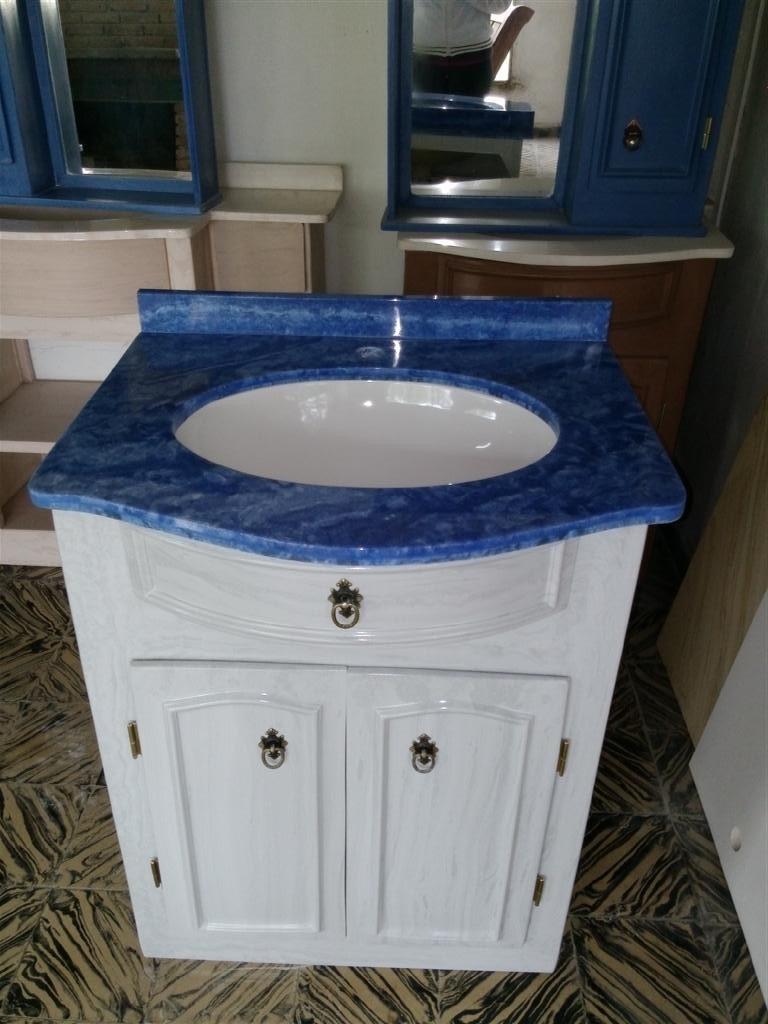 Mueble para ba o en marmol sintetico con mesada y bacha - Marmol para banos ...
