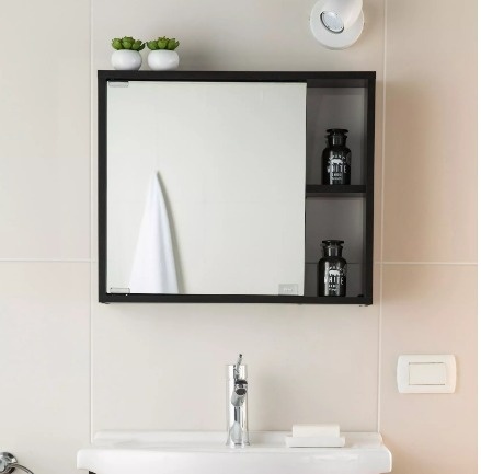 Mueble para ba o gabinete con espejo resistente a la for Mueble con espejo para bano
