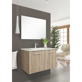 Mueble Para Baño M60c 60 Cm Color Cambrian 2 Puertas