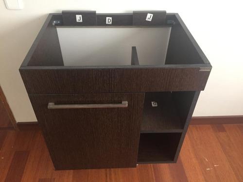 mueble para baño madera laminada rh flotante