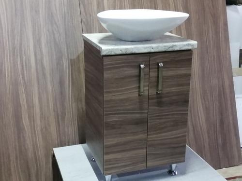 mueble para baño moderno con pata para colocar a piso fácil