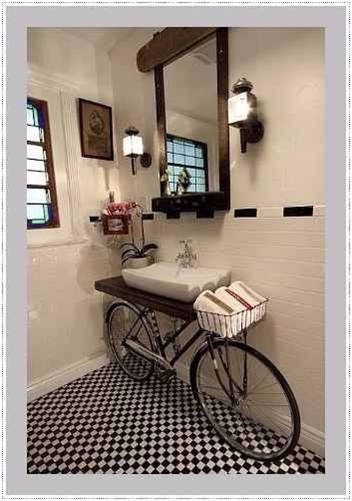 Mueble para bano moderno vintage retro incluye lavamanos - Mueble bano vintage ...