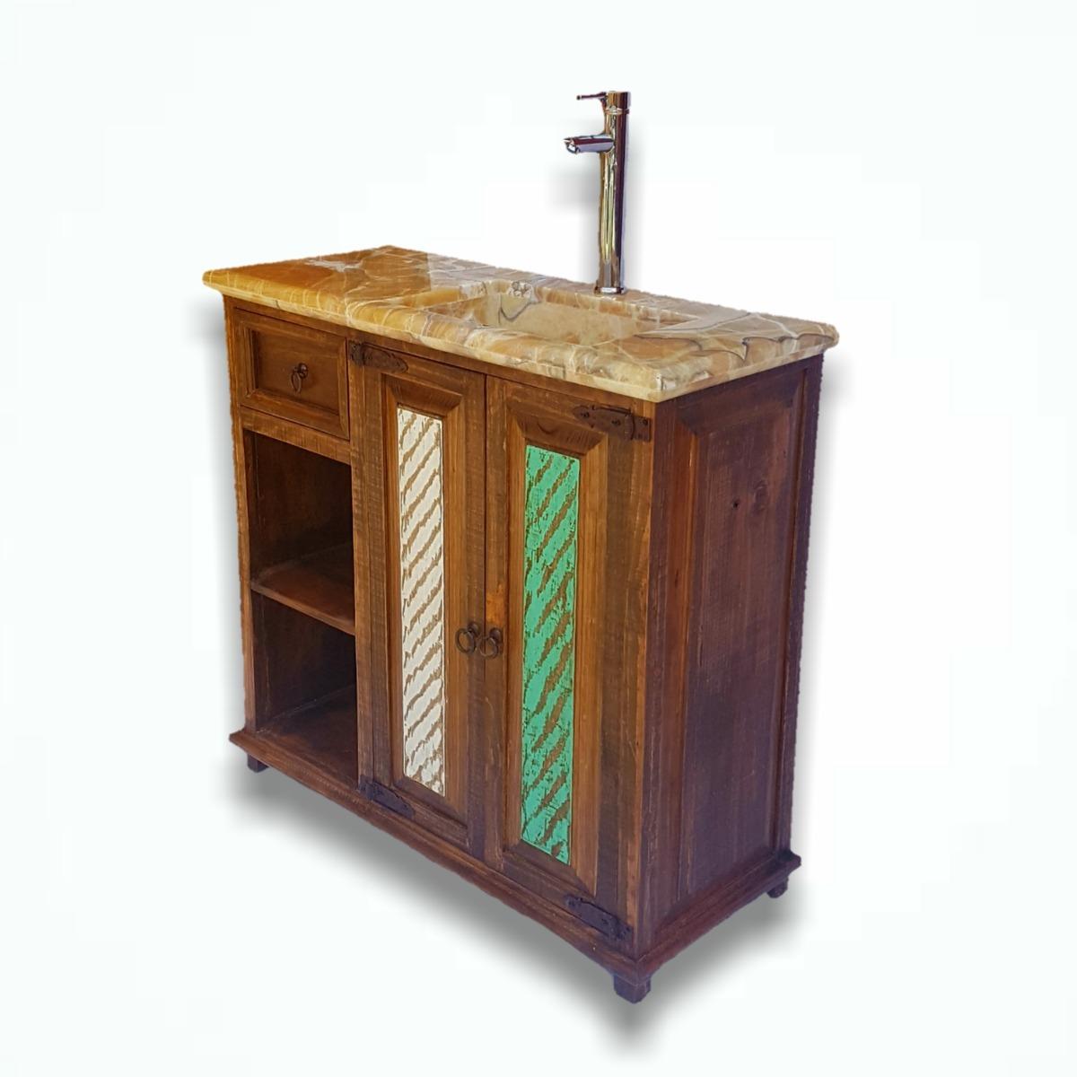Mueble Para Baño Rustico Y Vintage. Incluye Onix/mármol Vr ...