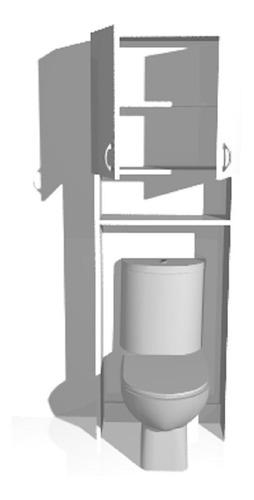 mueble para baño sobre inodoro despensero alacena 180x60x20
