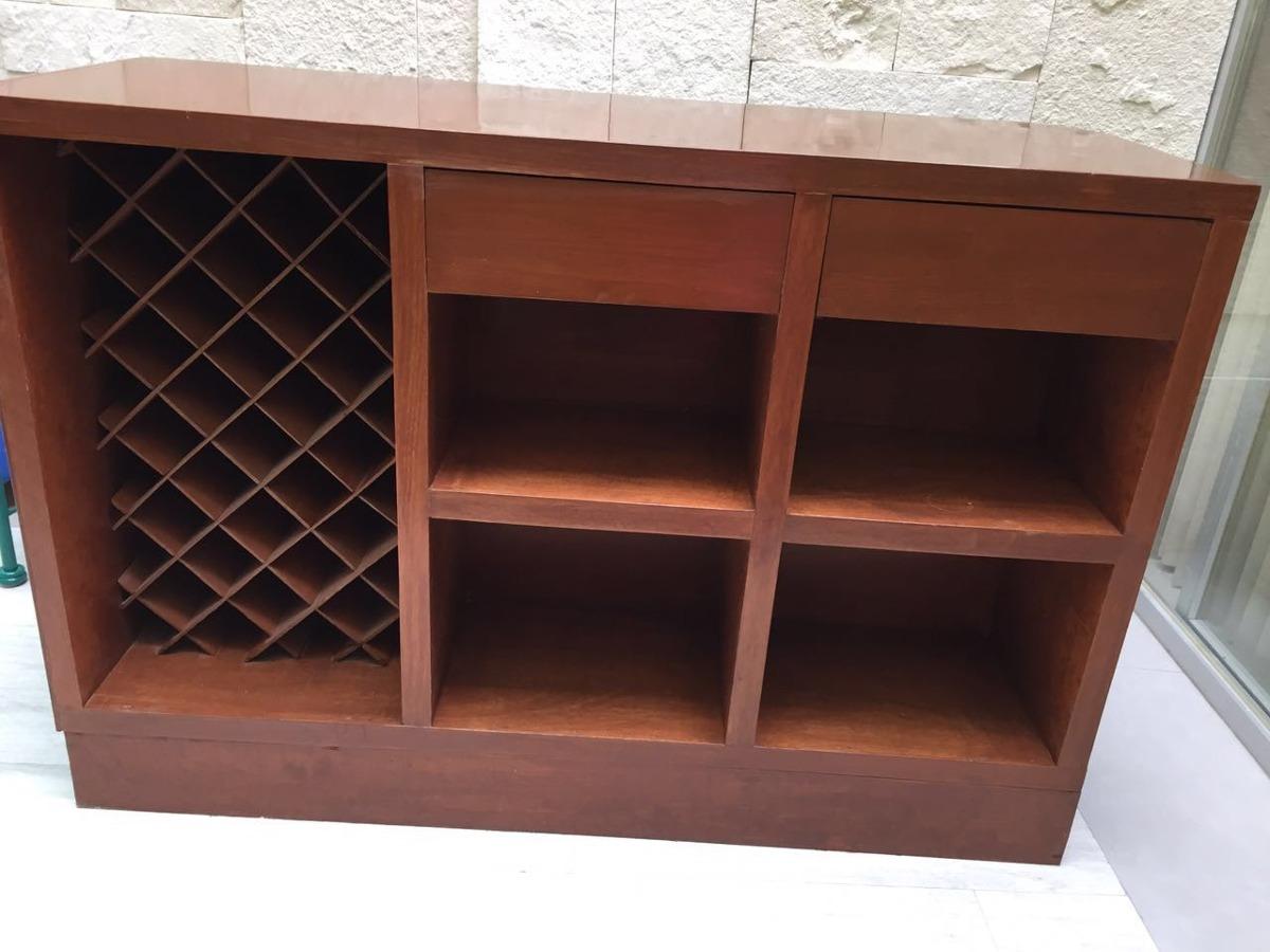 Mueble para cantina elaborado en madera 5 en for Mueble bar de madera para casa