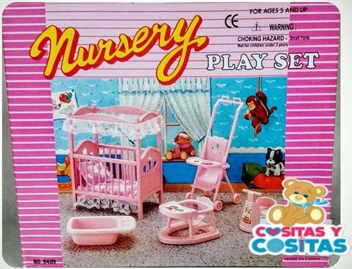 Mueble Para Casa De Muñeca Barbie Cuarto De Bebe 9409 Full ...