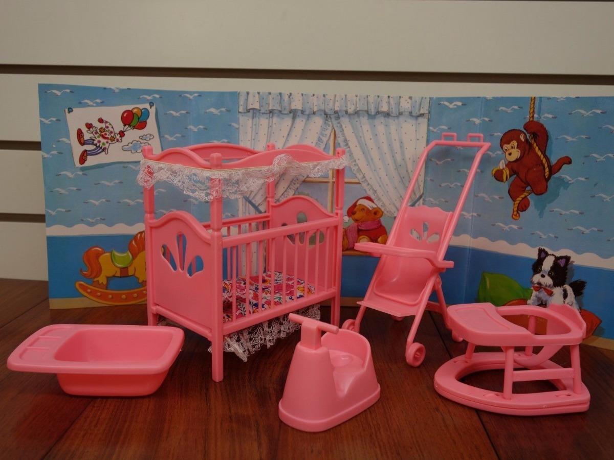 Mueble para casa de mu eca barbie cuarto de bebe en mercado libre - Muebles para cuarto de bebe ...