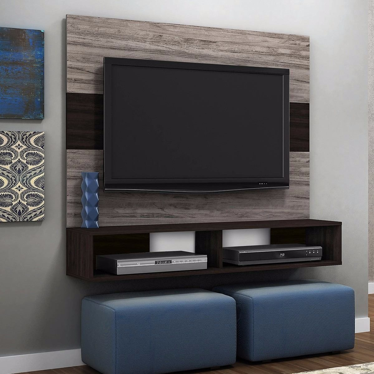 Mueble rack para tv centro de entretenimiento gratis for Mueble de entretenimiento