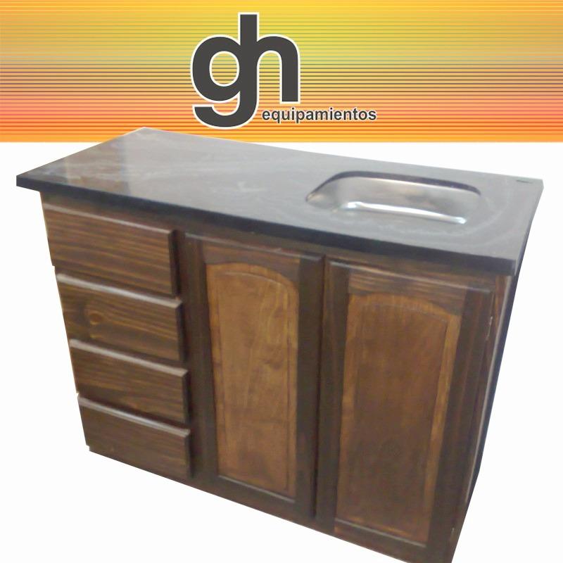 Mueble para cocina bajo fabricado en madera maciza - Muebles de cocina madera maciza ...