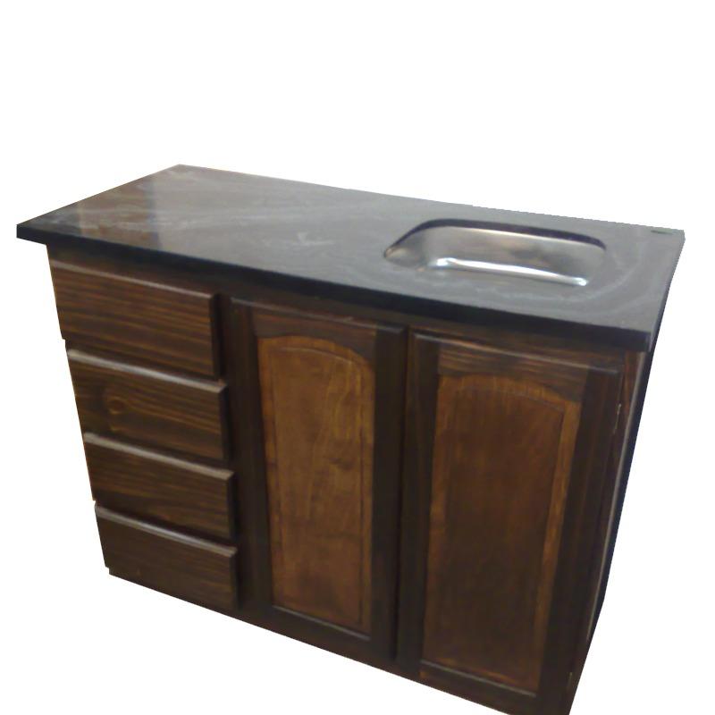Mueble de cocina de madera amazing foto modelo muebles for Muebles bajos de cocina baratos