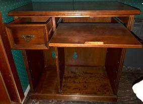 Muebles Para Computadora De Madera.Mueble Para Computadora Madera Maciza Vintage Rebajado