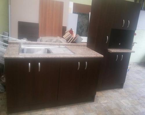 mueble para fregadero cocina + alacena (fregadero gratis)