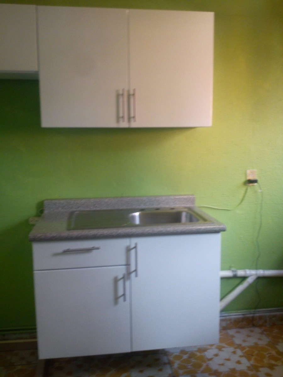 Mueble para fregadero con tarja para cocina integral vv4 for Muebles de cocina 2 metros