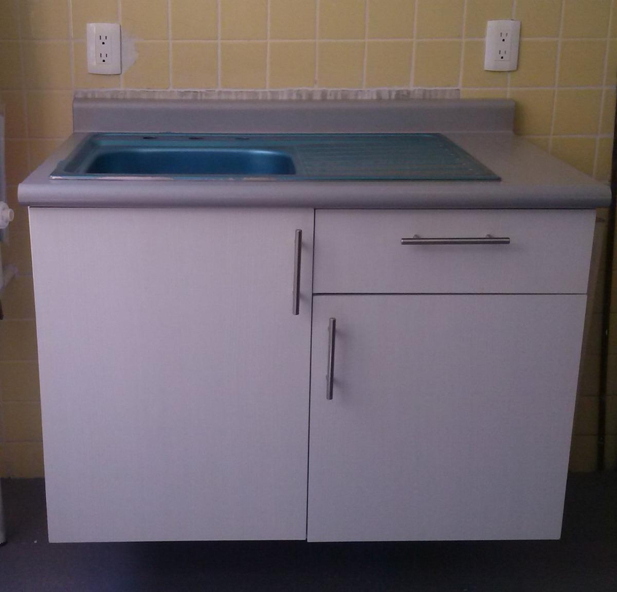 Mueble para fregadero con tarja para cocina integral vv4 for Muebles para una cocina