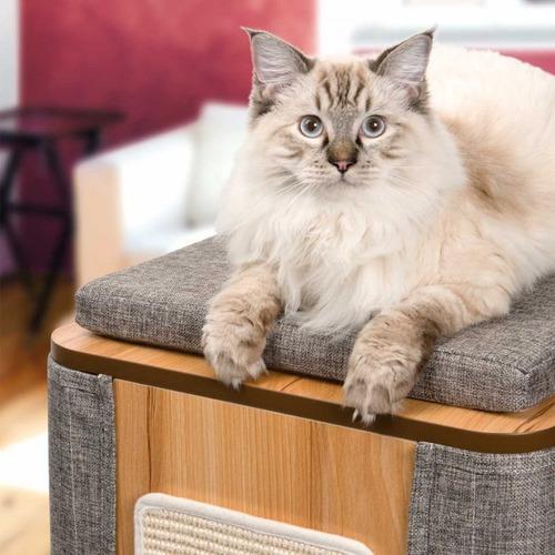 mueble para gatos vesper cubo tower catit + envío gratis