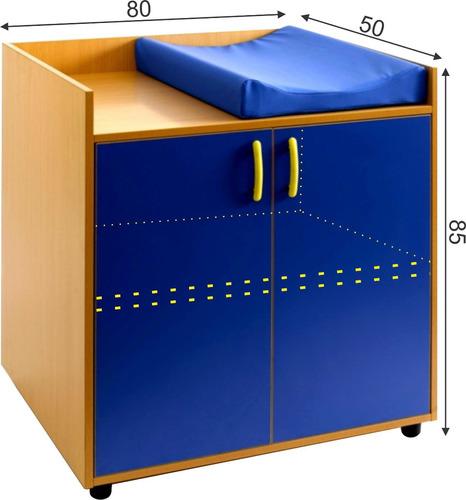 Mueble para guarderia kinder mobiliario bebe cambiador for Muebles de guarderia
