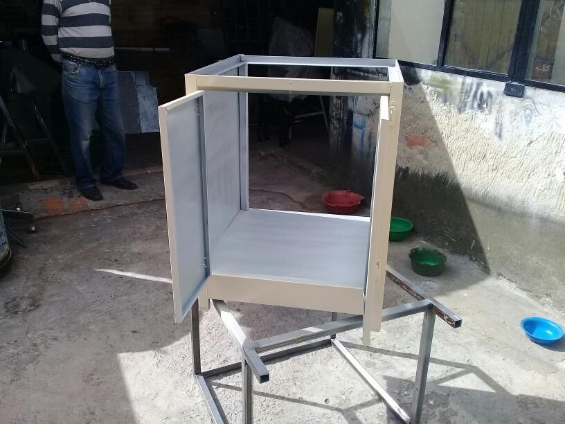 Mueble para lavaderos ngulo y tubo de pulgada y l mina gal en mercado libre - Muebles para lavaderos ...